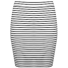 Buy Miss Selfridge Reverse Breton Mini Skirt, White/Black Online at johnlewis.com