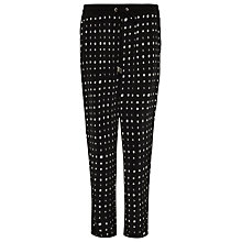 Buy Whistles Helena Shibori Trousers, Black Online at johnlewis.com