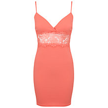 Buy Miss Selfridge Petite Lace Insert Dress Online at johnlewis.com