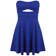 Buy Miss Selfridge Petite Skater Dress, Bright Blue Online at johnlewis.com