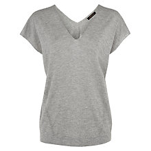 Buy Jaeger Silk Wool Knit Tank Top, Light Grey Melange Online at johnlewis.com