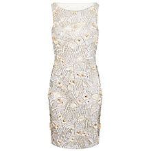 Buy Miss Selfridge Premium Collection Diana Bodycon Dress, Cream Online at johnlewis.com