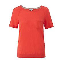 Buy Jigsaw Cotton Cashmere Blend Jumper, Geranium Online at johnlewis.com