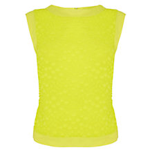 Buy Karen Millen Devore Dot Top, Lime Online at johnlewis.com