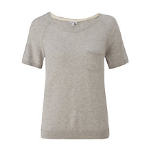 Buy Jigsaw cotton Cashmere Sweater, Light Grey Mel Online at johnlewis.com