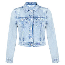 Buy Miss Selfridge Ripped Jacket, Bleached Denim Online at johnlewis.com