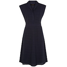 Buy Jaeger Embroidery Anglaise Dress, Midnight Online at johnlewis.com