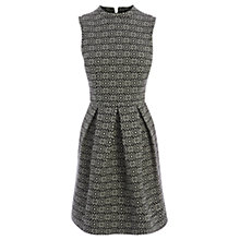 Buy Oasis Aztec Jacquard Dress, Black/Multi Online at johnlewis.com