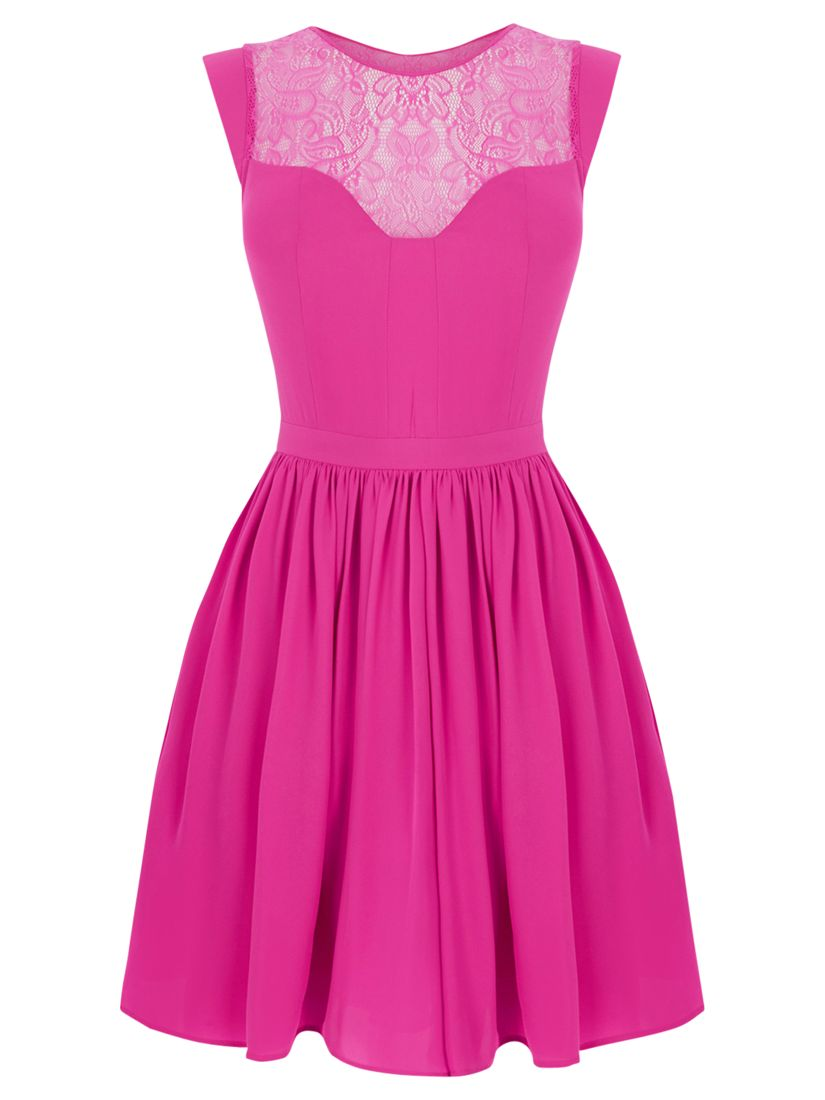 oasis lace trim soft skater dress mexican pink, oasis, lace, trim, soft, skater, dress, mexican, pink, 8|16|12|10|14, women, womens dresses, 1911159