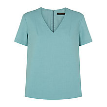Buy Jaeger Seersucker Top, Aquifer Online at johnlewis.com