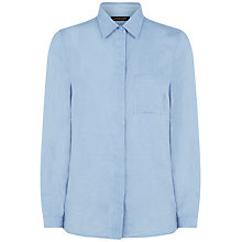 Buy Jaeger Linen Casual Shirt, Eventide Online at johnlewis.com
