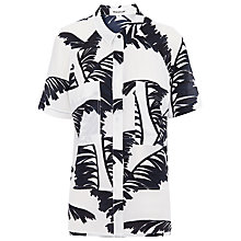 Buy Whistles Bamboo Oversized Shirt, Black/White Online at johnlewis.com