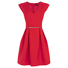 Buy Oasis Jacquard Skater Dress, Bright Orange Online at johnlewis.com