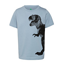 Buy John Lewis Boy T-Rex Dinosaur T-Shirt, Blue Online at johnlewis.com