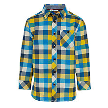 Buy John Lewis Boy Block Check Oxford Shirt Online at johnlewis.com