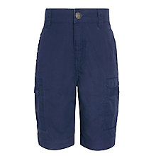 Buy John Lewis Boys Cotton Cargo Shorts, Navy Online at johnlewis.com