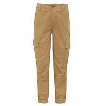 Buy John Lewis Boy Broken Twill Cargo Trousers, Beige Online at johnlewis.com