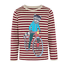 Buy John Lewis Boy Cycling Racoon Boy's Long Sleeve T-Shirt, Purple/Multi Online at johnlewis.com