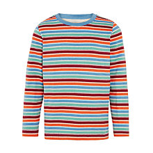 Buy John Lewis Boy Stripy Long Sleeve Top, Multi Online at johnlewis.com