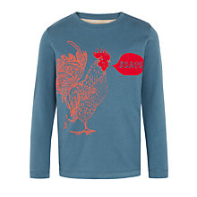 Buy John Lewis Boy Skating Rooster Long Sleeve Top, Navy Online at johnlewis.com
