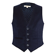 Buy John Lewis Heirloom Collection Boys' Velvet Waistcoat, Navy Online at johnlewis.com
