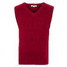 Buy John Lewis Heirloom Collection Boys' Knitted Textured Tank, Red Online at johnlewis.com