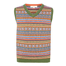 Buy John Lewis Heirloom Collection Boys' Fair Isle V-Neck Tank, Multi Online at johnlewis.com