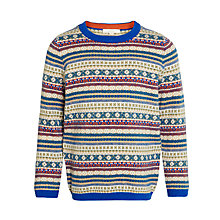 Buy John Lewis Heirloom Collection Boy Crew Neck Jumper, Biscuit Online at johnlewis.com