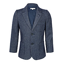 Buy John Lewis Heirloom Collection Boys' Puppytooth Blazer, Navy Online at johnlewis.com