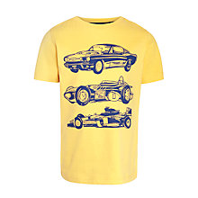 Buy John Lewis Boy Car Print T-Shirt, Yellow Online at johnlewis.com