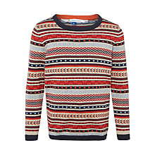 Buy John Lewis Boy Multi Fairisle Jumper, Orange Online at johnlewis.com