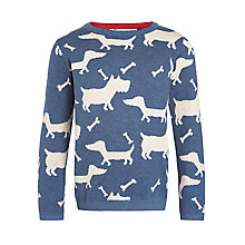 Buy John Lewis Boy Dog And Bones Jumper, Navy Online at johnlewis.com