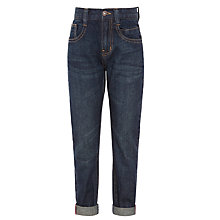 Buy John Lewis Boy Turn Up Denim Jeans, Dark Blue Online at johnlewis.com