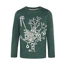 Buy John Lewis Boy Tree House Long Sleeve Top, Green Online at johnlewis.com