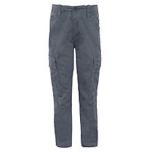 Buy John Lewis Boy Broken Twill Cargo Trousers, Grey Online at johnlewis.com