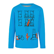 Buy John Lewis Boy Fox Street Boy's Sweater, Teal Online at johnlewis.com