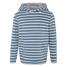 Buy John Lewis Boy Bretton Stripe Hoody, Blue/White Online at johnlewis.com