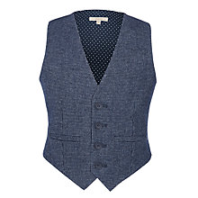 Buy John Lewis Heirloom Collection Boys' Puppytooth Waistcoat, Navy Online at johnlewis.com