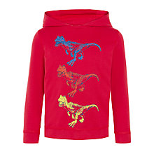 Buy John Lewis Boys' Dinosaur Hoodie Top Online at johnlewis.com