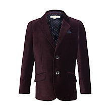 Buy John Lewis Heirloom Collection Boy's Velvet Blazer, Burgundy Online at johnlewis.com