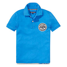 Buy Tommy Hilfiger Boys' Karl Short Sleeve Polo Shirt, Turquoise Online at johnlewis.com