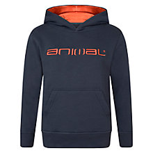 Buy Animal Boys' Free Ride Logo Hoodie, Indigo Online at johnlewis.com