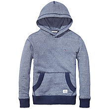 Buy Tommy Hilfiger Boys' Ribbed Edge Hoodie, Blue Online at johnlewis.com