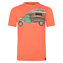 Buy Animal Boys' Wood Truck T-Shirt, Orange Online at johnlewis.com
