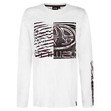 Buy Animal Boys' Long Sleeve Board Logo T-Shirt, White Online at johnlewis.com