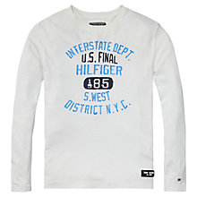 Buy Tommy Hilfiger Boys' Kevin Long Sleeve T-Shirt, White Online at johnlewis.com