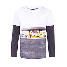 Buy John Lewis Boy Minions Long Sleeve T-Shirt, Sky Blue/Multi Online at johnlewis.com