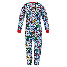 Buy Marvel Jersey Onesie, Sky Blue Online at johnlewis.com