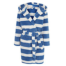 Buy John Lewis Boys' Stripe Bath Robe, Blue/Cream Online at johnlewis.com