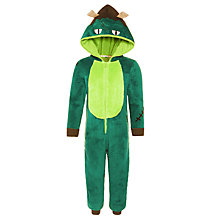 Buy John Lewis Children's Monster Onesie, Green Online at johnlewis.com